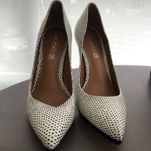 Aldo polka dot heels
